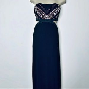 Ark & Co Strapless Sequined Maxi Dress Size Large